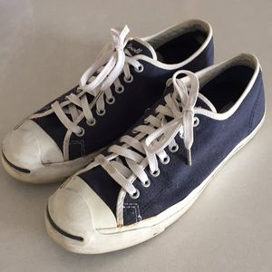 CONVERSE JACK PARCELL NAVY SNEAKERS - MENS 8.5